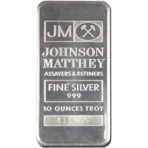 10 oz silver .999 bullion bar