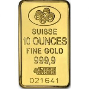10 ounces suisse gold bar