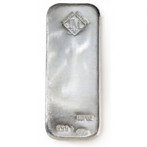 100 ounce .999 silver bullion bar